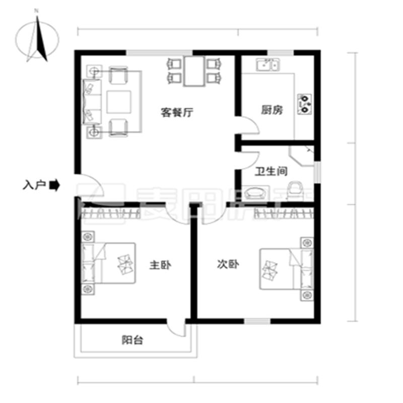 莲坂西小区,双阳台,南北通透,